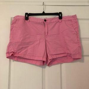 Merona pink chino shorts, size 18.